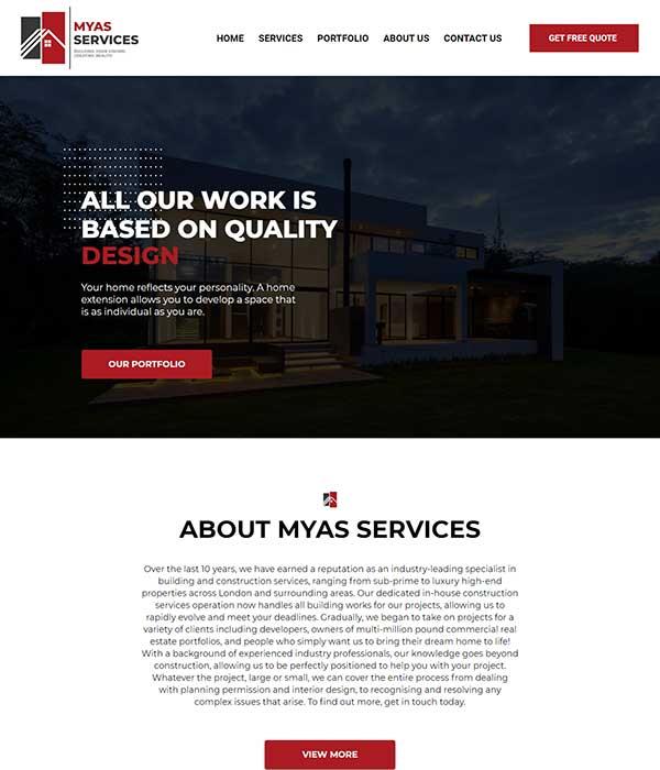 MYAS Front page - WP BigBang
